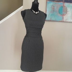 Banana Republic Midi Print Stretch Dress Size 0